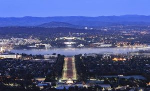 View of Canberra at night